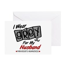 I Wear Grey For My Husband 8 PD Greeting Card