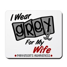 I Wear Grey For My Wife 8 PD Mousepad