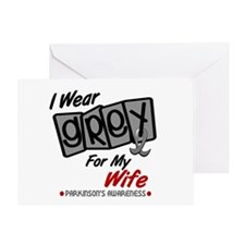 I Wear Grey For My Wife 8 PD Greeting Card