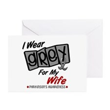I Wear Grey For My Wife 8 PD Greeting Cards (Pk of
