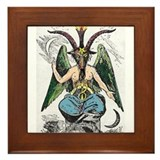 Baphomet Framed Tile