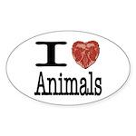 I Heart Animals Oval Sticker (10 pk)