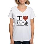 I Heart Animals Women's V-Neck T-Shirt
