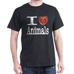 I Heart Animals Dark T-Shirt