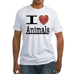 I Heart Animals Fitted T-Shirt