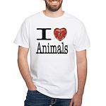 I Heart Animals White T-Shirt