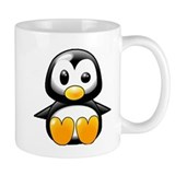 What the Heck Penguin Small Mug
