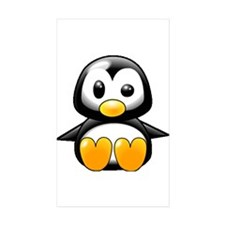 What the Heck Penguin Rectangle Sticker 10 pk)
