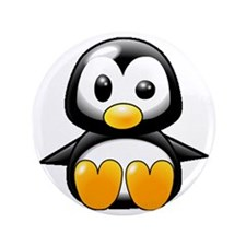 """What the Heck Penguin 3.5"""" Button"""