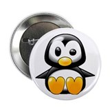 "What the Heck Penguin 2.25"" Button"