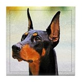 Doberman Pincher Tile Coaster