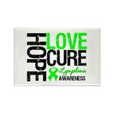 Lymphoma HopeLoveCure Rectangle Magnet (10 pack)