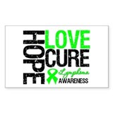 Lymphoma HopeLoveCure Rectangle Sticker 10 pk)