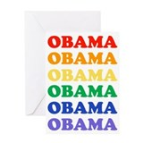 Obama (Rainbow) Greeting Card