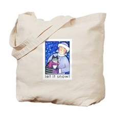 LET IT SNOW No. 6...Holiday Tote or Book Bag