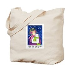 LET IT SNOW No. 4...Holiday Tote or Book Bag
