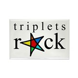 Triplets ROCK Rectangle Magnet
