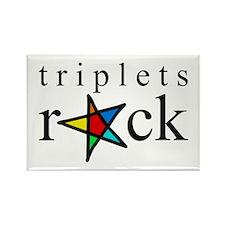 Triplets ROCK Rectangle Magnet