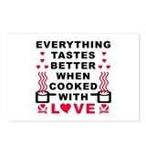 COOKED WITH LOVE Postcards (Package of 8)