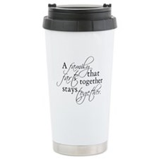 A FAMILY THAT FARTS TOGETHER Ceramic Travel Mug