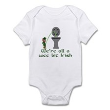 Irish Leprechaun,wee bit Irish funny slogan shirts