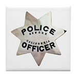 Newark Police Officer Tile Coaster