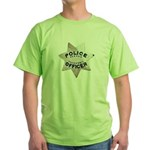 Newark Police Officer Green T-Shirt