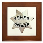 Newark Police Officer Framed Tile