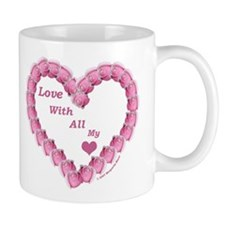 Memory Rose Heart, right handed Mug