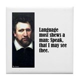 "Jonson ""Language"" Tile Coaster"