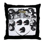 Van Brakel Coat of Arms Throw Pillow
