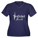 Infidel Ak47 (Arabic Text) Women's Plus Size V-Nec