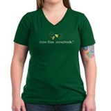 time flies. scrapbook. - Ladies V-Neck T-Shirt