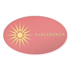 Macedonia (Vergina) Oval sticker