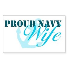 Proud Navy Wife Rectangle Decal