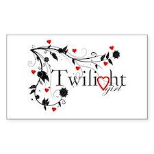 Twilight Girl Rectangle Sticker