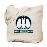 Three Penguin Night Tote Bag