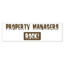 Property Managers Rocks Bumper Bumper Sticker