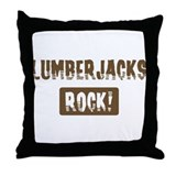 Lumberjacks Rocks Throw Pillow