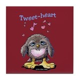 Tweet-heart Bird Tile Coaster