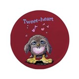 Tweet-heart Bird 3.5&quot; Button