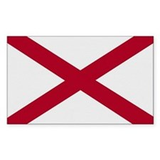 Alabama Vintage Flag Rectangle Decal