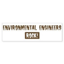 Environmental Engineers Rocks Bumper Bumper Sticker