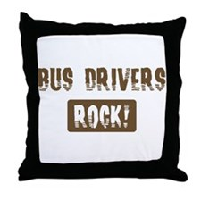 Bus Drivers Rocks Throw Pillow