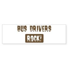 Bus Drivers Rocks Bumper Car Sticker