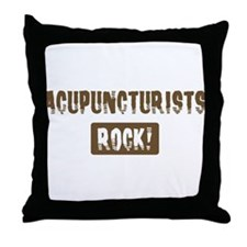 Acupuncturists Rocks Throw Pillow