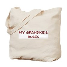 Grandkids Rules Tote Bag
