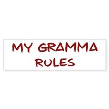Gramma Rules Bumper Sticker (50 pk)