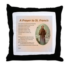 A Prayer to St. Francis Throw Pillow