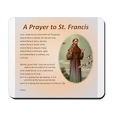 A Prayer to St. Francis Mousepad